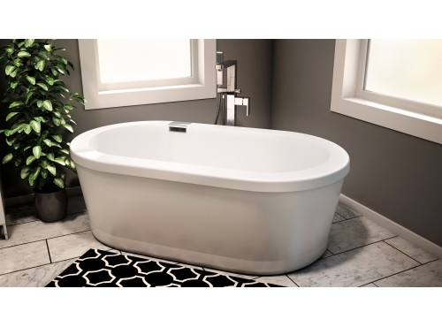 Neptune - RUBY freestanding acrylic oval bathtub