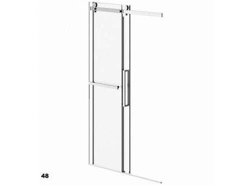 Neptune - EXALT shower door no return panel