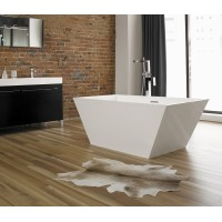 Neptune - WISH R1 freestanding polymer rectangular bathtub