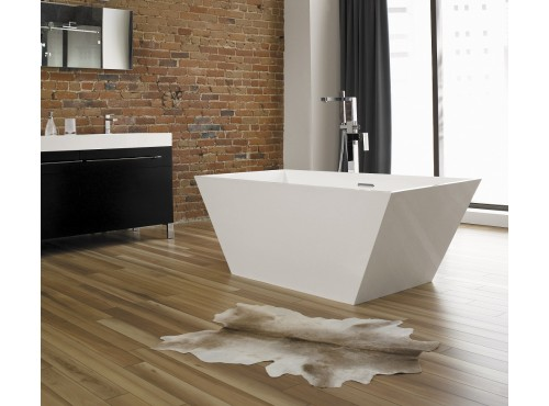 Neptune - WISH R1 freestanding polymer rectangular bathtub