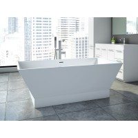 Neptune - WISH R2 freestanding polymer rectangular bathtub