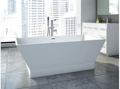 Neptune - WISH R2 freestanding polymer rectangular bathtub