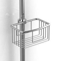 "Riobel -diam:21 mm to diam:25 mm (diam:7/8"" to diam:1"") shower rail basket - 275C Chrome"