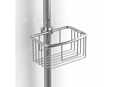 """Riobel -diam:21 mm to diam:25 mm (diam:7/8"""" to diam:1"""") shower rail basket - 275C Chrome"""