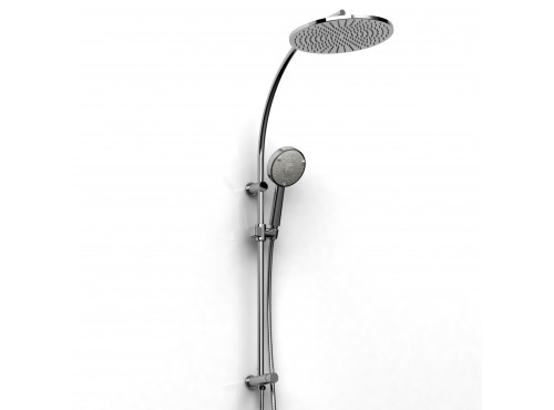 Riobel -DUO shower system with built-in supply - 4228C Chrome