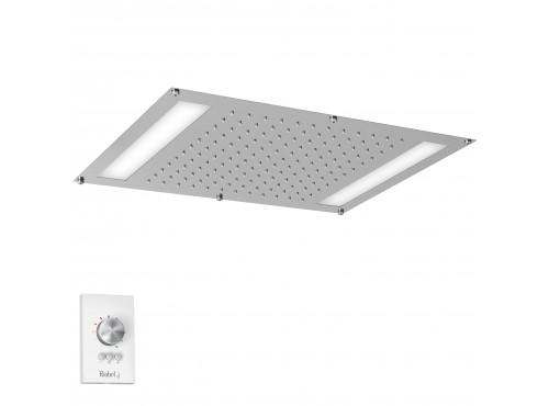 """Riobel -42 cm X 56 cm (22"""" x 16 ½"""") built-in shower head with LED light - 476C Chrome"""