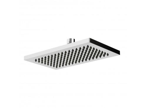 "Riobel -15 cm X 25 cm (6"" x 10"") rectangular shower head - 489C Chrome"