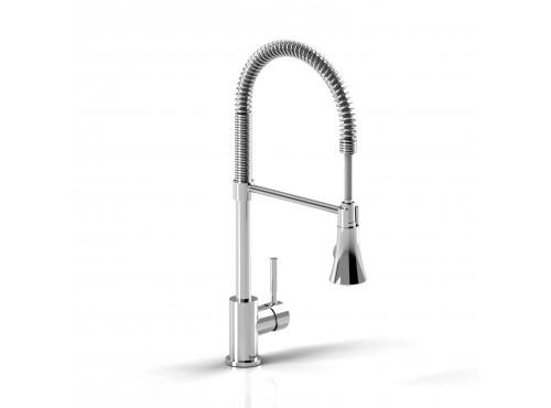 Riobel -Bistro kitchen faucet with spray - BI101C Chrome