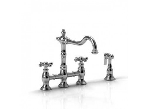 Riobel -Bridge kitchen faucet with spray - BR400+