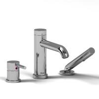 Riobel -3-piece deck-mount tub filler with hand shower - CS10