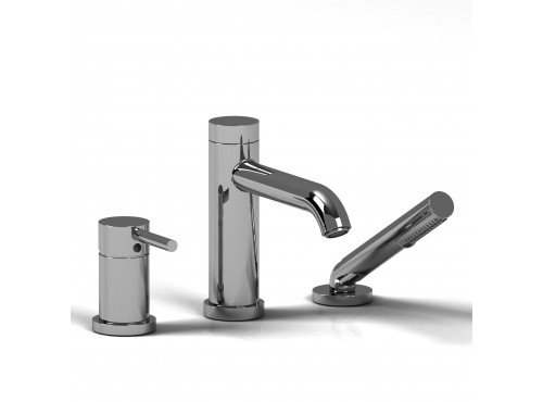 Riobel -3-piece pressure balance deck-mount tub filler with hand shower - CS16