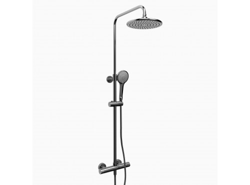 "Riobel -Duo shower rail with Type T (thermostatic) ½"" external bar - CSTM57C Chrome"