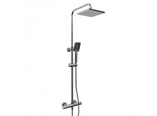 "Riobel -Duo shower rail with Type T (thermostatic) ½"" external bar - CSTQ57C Chrome"