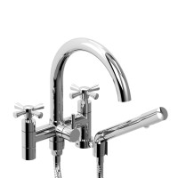 "Riobel -6"" tub filler with hand shower - ED06+"