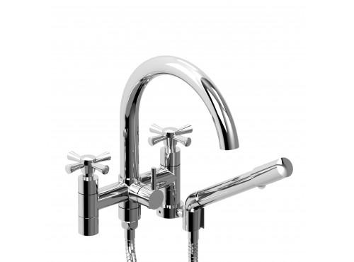 "Riobel -6"" tub filler with hand shower - ED06+"