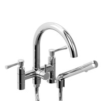 "Riobel -6"" tub filler with hand shower - ED06L"