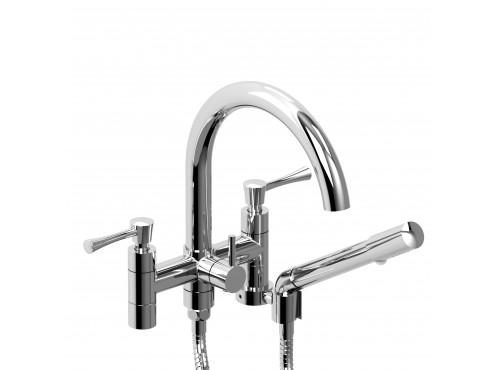 """Riobel -6"""" tub filler with hand shower - ED06L"""