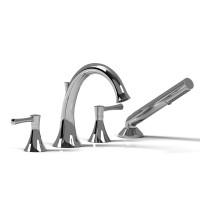 Riobel -4-piece deck-mount tub filler with hand shower - ED12L