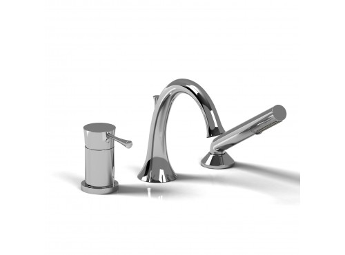 Riobel -3-piece pressure balance deck-mount tub filler with hand shower - ED16