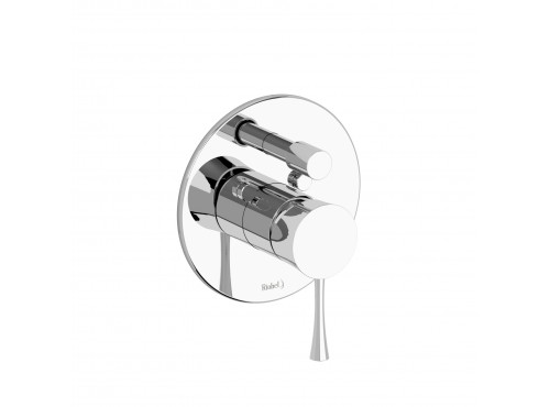 Riobel -pressure balance valve trim with diverter - TEDTM55C Chrome