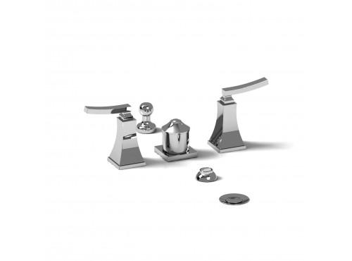 Riobel -4-piece bidet faucet with integrated vacuum breaker - EF09L