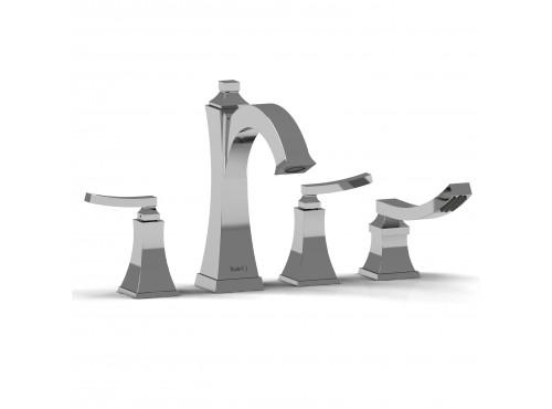 Riobel -4-piece deck-mount tub filler with hand shower - EF12L