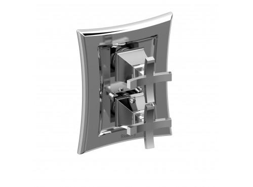 """Riobel -½"""" complete valve with shut-off valve - EF42+BN Brushed nickel"""
