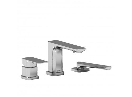 Riobel -3-piece deck-mount tub filler with hand shower - EQ10C Chrome