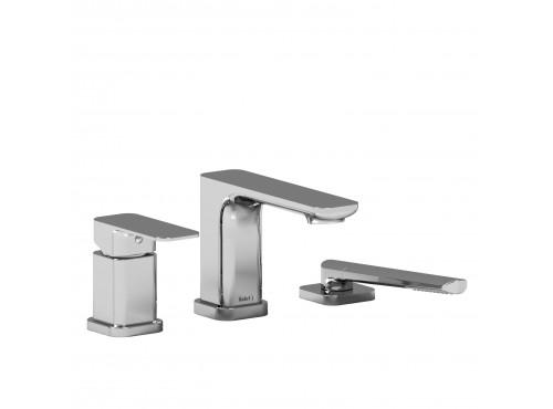 Riobel -3-piece pressure balance deck-mount tub filler with hand shower - EQ16C Chrome