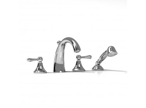 Riobel -4-piece deck-mount tub filler with hand shower - FI12L