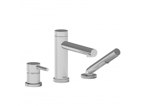 Riobel -3-piece deck-mount tub filler with hand shower - GS10C Chrome