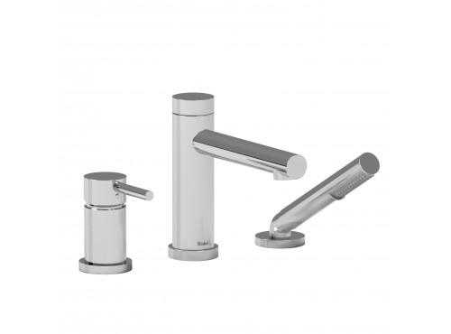 Riobel -3-piece pressure balance deck-mount tub filler with hand shower - GS16C Chrome
