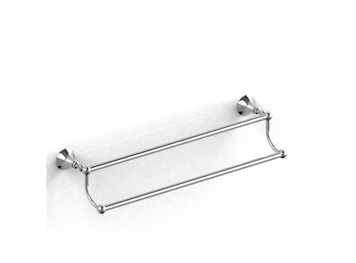 "Riobel -60 cm (24"") double towel bar - HU6"