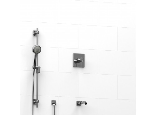 "Riobel -½"" 2-way coaxial system with spout and hand shower rail - KIT#1223CSTQ"