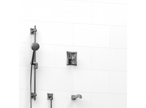 """Riobel -½"""" 2-way coaxial system with spout and hand shower rail - KIT#1223EF"""