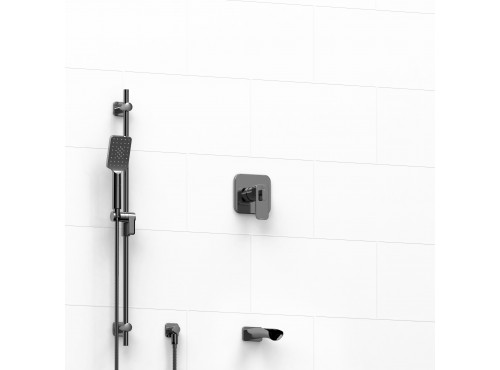 """Riobel -½"""" 2-way coaxial system with spout and hand shower rail - KIT#1223EQ"""