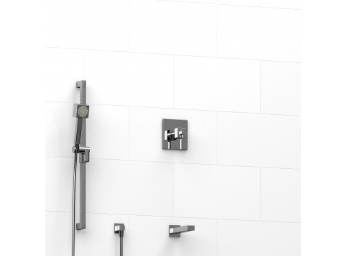 """Riobel -½"""" 2-way coaxial system with spout and hand shower rail - KIT#1223MZ"""