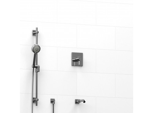 "Riobel -½"" 2-way coaxial system with spout and hand shower rail - KIT#1223PFTQ"