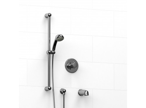 "Riobel -½"" 2-way coaxial system with spout and hand shower rail - KIT#1223PR+"