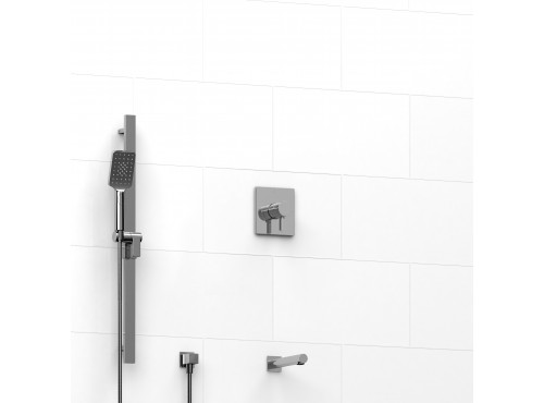 "Riobel -½"" 2-way coaxial system with spout and hand shower rail - TKIT#1223PXTQ"