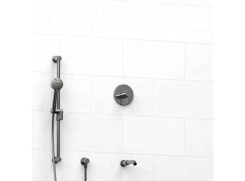 """Riobel -½"""" 2-way coaxial system with spout and hand shower rail - KIT#1223RUTM"""