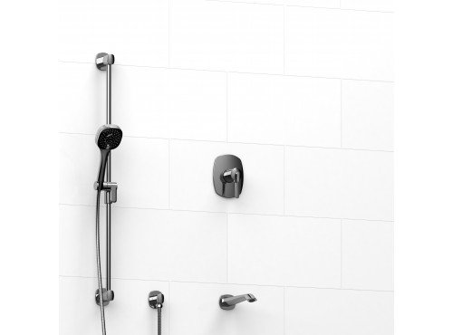 "Riobel -½"" 2-way coaxial system with spout and hand shower rail - KIT#1223VY"
