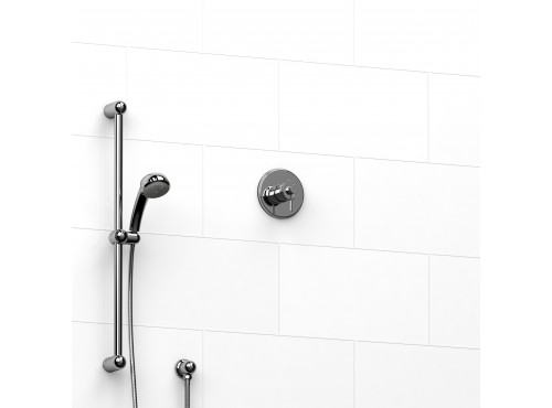 """Riobel -½"""" 2-way coaxial system with hand shower rail - KIT#123AT"""
