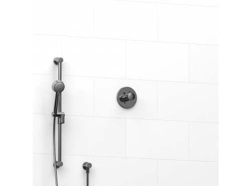 "Riobel -½"" 2-way coaxial system with hand shower rail - KIT#123EDTM+"