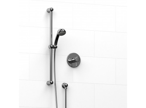 "Riobel -½"" 2-way coaxial system with hand shower rail - KIT#123FI"