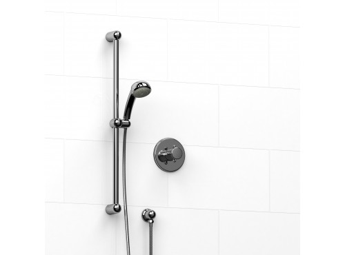 """Riobel -½"""" 2-way coaxial system with hand shower rail - KIT#123GN+"""