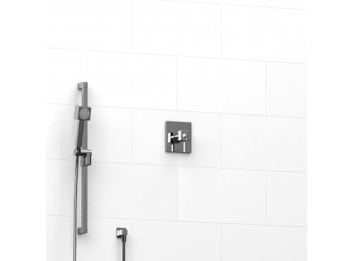 """Riobel -½"""" 2-way coaxial system with hand shower rail - KIT#123MZ"""