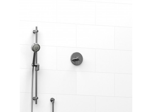 """Riobel -½"""" 2-way coaxial system with hand shower rail - KIT#123PATM"""