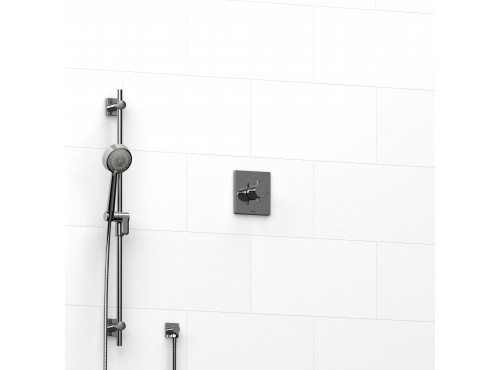 """Riobel -½"""" 2-way coaxial system with hand shower rail - KIT#123PATQ+"""