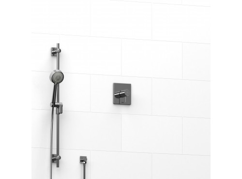 "Riobel -½"" 2-way coaxial system with hand shower rail - KIT#123PATQ"